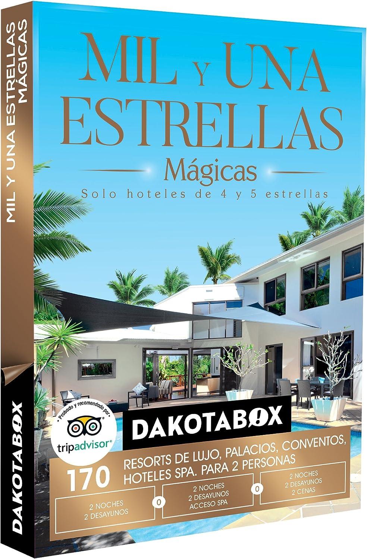 DAKOTABOX - Caja Regalo - MIL Y UNA ESTRELLAS MÁGICAS - 170 hoteles únicos de 4 y 5* como balnearios o palacios en España, Francia y Portugal: Amazon.es: Deportes y aire libre