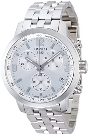 f7633651916 Amazon.com: Tissot PRC 200 Chronograph Mens Watch - Stainless Steel ...