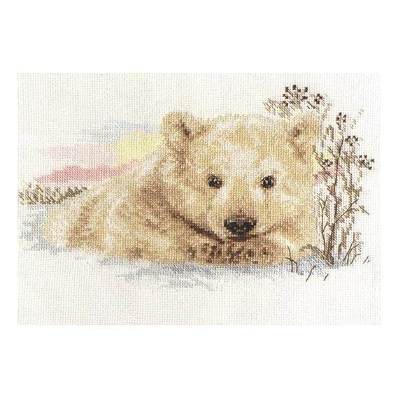 Alisa Needlecraft, Kit de punto de cruz, un oso polar de bebé de ...