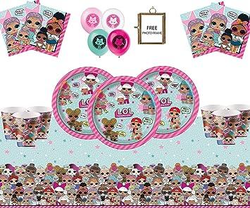 LOL surprise poupées fête d/'anniversaire vaisselle Tablecover Serviettes Assiettes Tasses