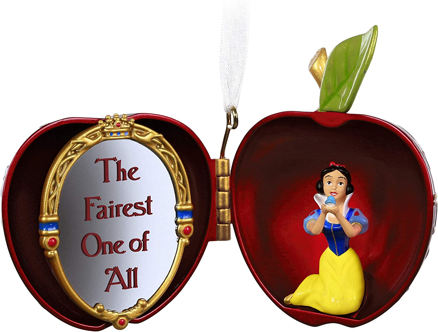 Hallmark Keepsake Christmas 2019 Year Dated Disney Snow White and The Seven Dwarfs The Fairest One of All Apple Ornament, Metal