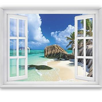 Livingdecoration Fototapete Tropical Window 2t3 183 X 127 Cm