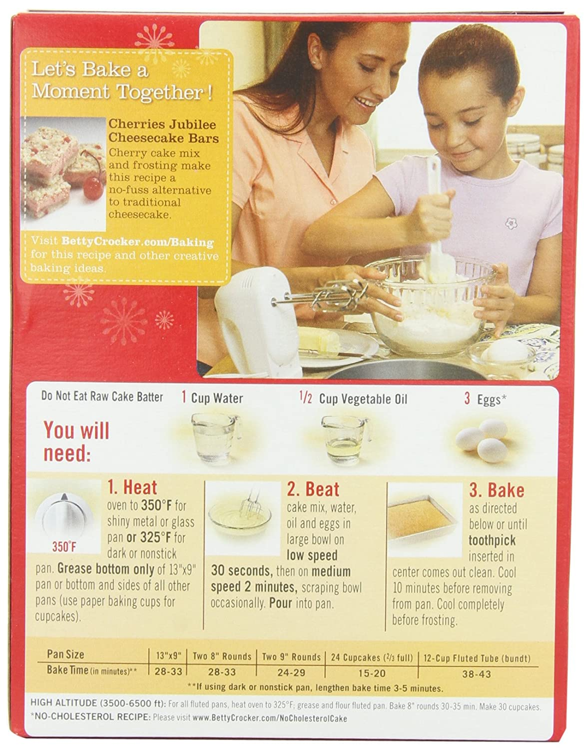 Betty Crocker Cherry Chip Cake Mix Instructions