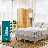 """Leesa Luxury Hybrid 11"""" Box Mattress, Queen, White & Gray"""