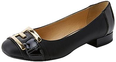 Geox Damen D Wistrey A Geschlossene Ballerinas, Schwarz (Black), 39 EU