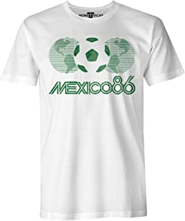 More T Vicar Mexico 86 Vintage T Shirt - Hombres Football World Cup T Shirt