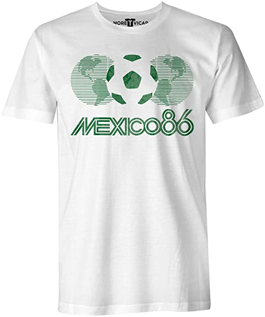 Uomo Vicar Di Mexico T Del 86 Coppa More Shirt Vintage Calcio qUGzVSLMp