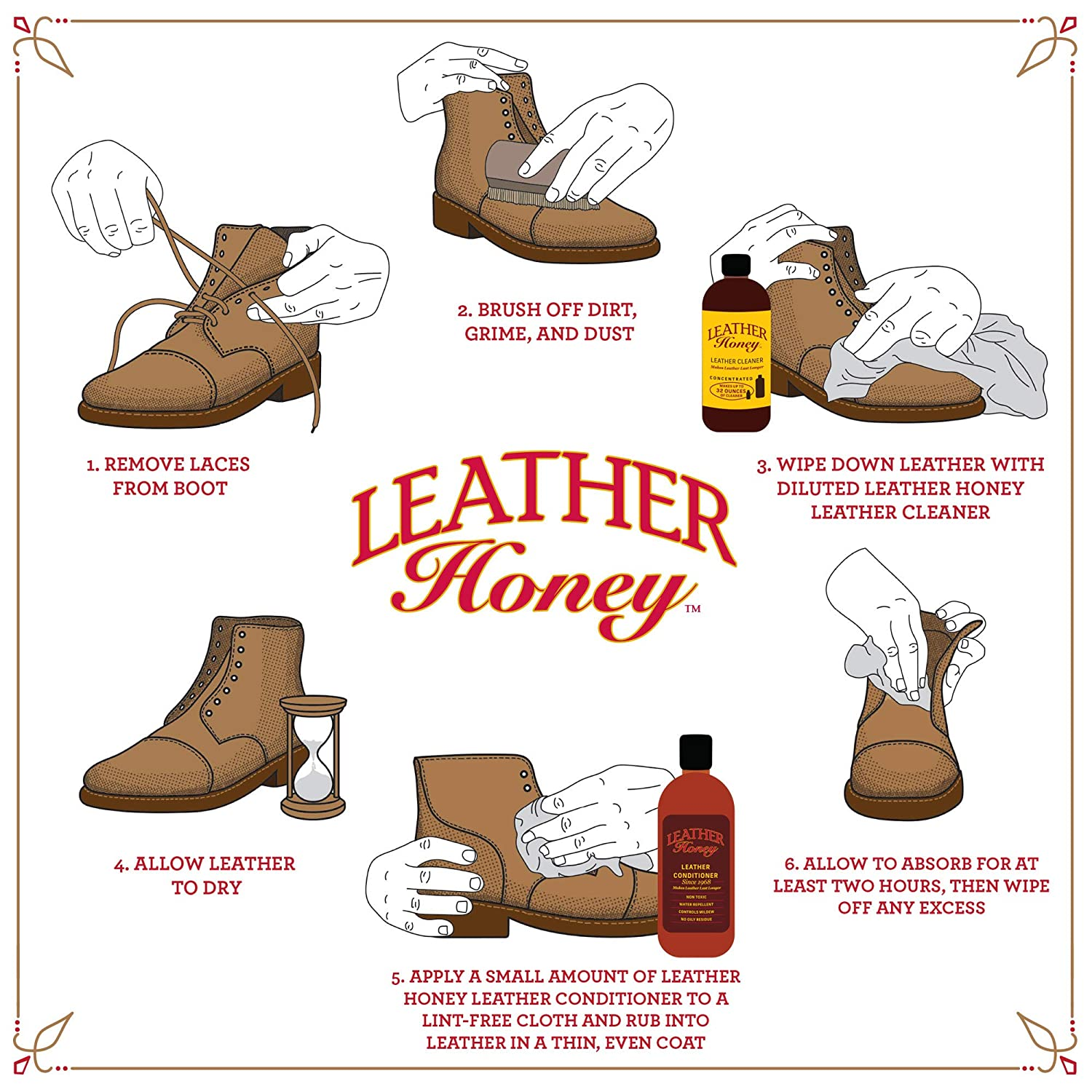 Amazon.com: Leather Honey Leather Conditioner, Best Leather Conditioner Since 1968. For Use on Leather Apparel, Furniture, Auto Interiors, Shoes, ...