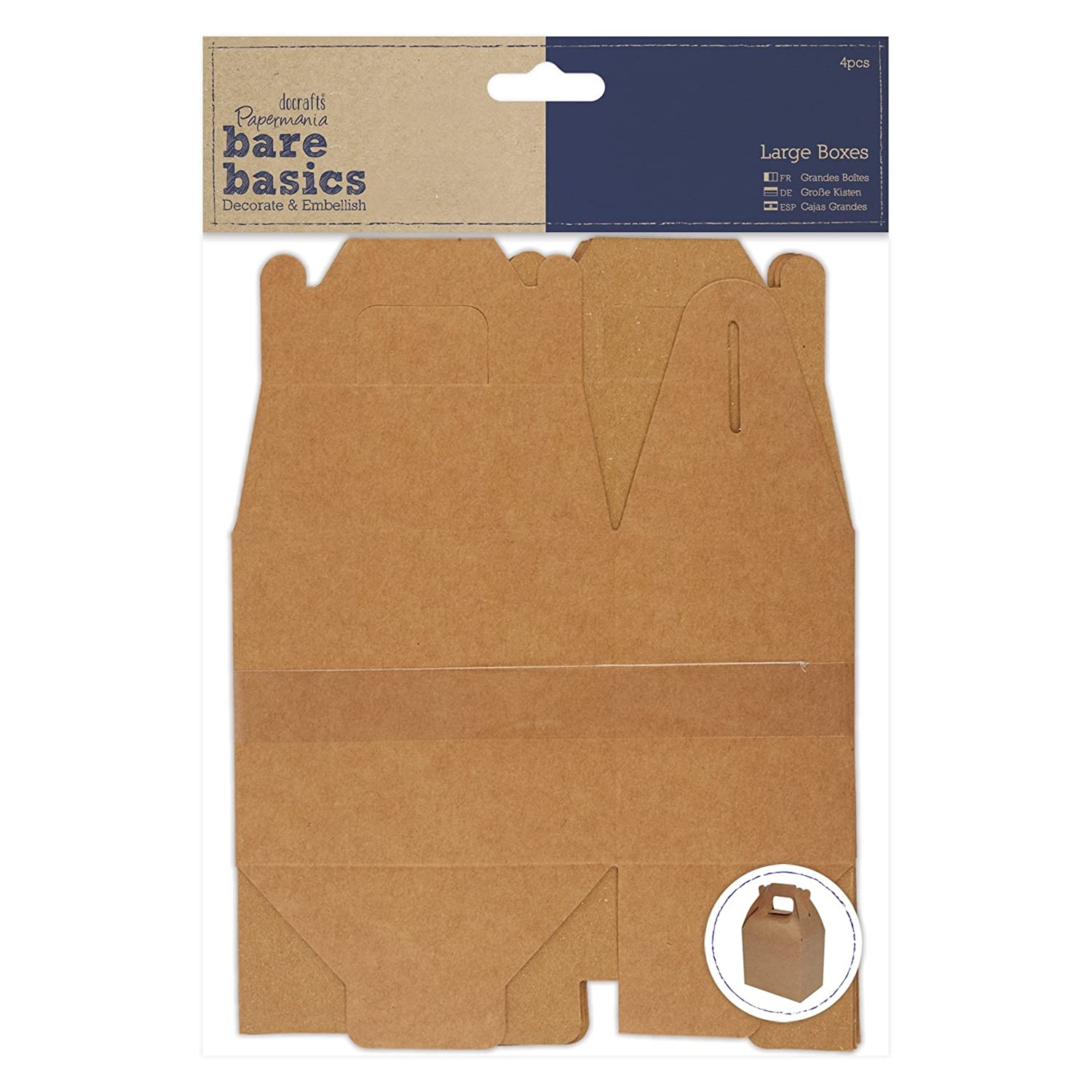 Amazon.com: DOCrafts PMA174021 Papermania Bare Basics Boxes (4 Pack), Large, Brown: Arts, Crafts & Sewing