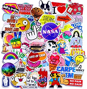 Cute Laptop Stickers for Teen Girls hydroflask Stickers Waterproof Aesthetic Assorted Stickers 100 Pack
