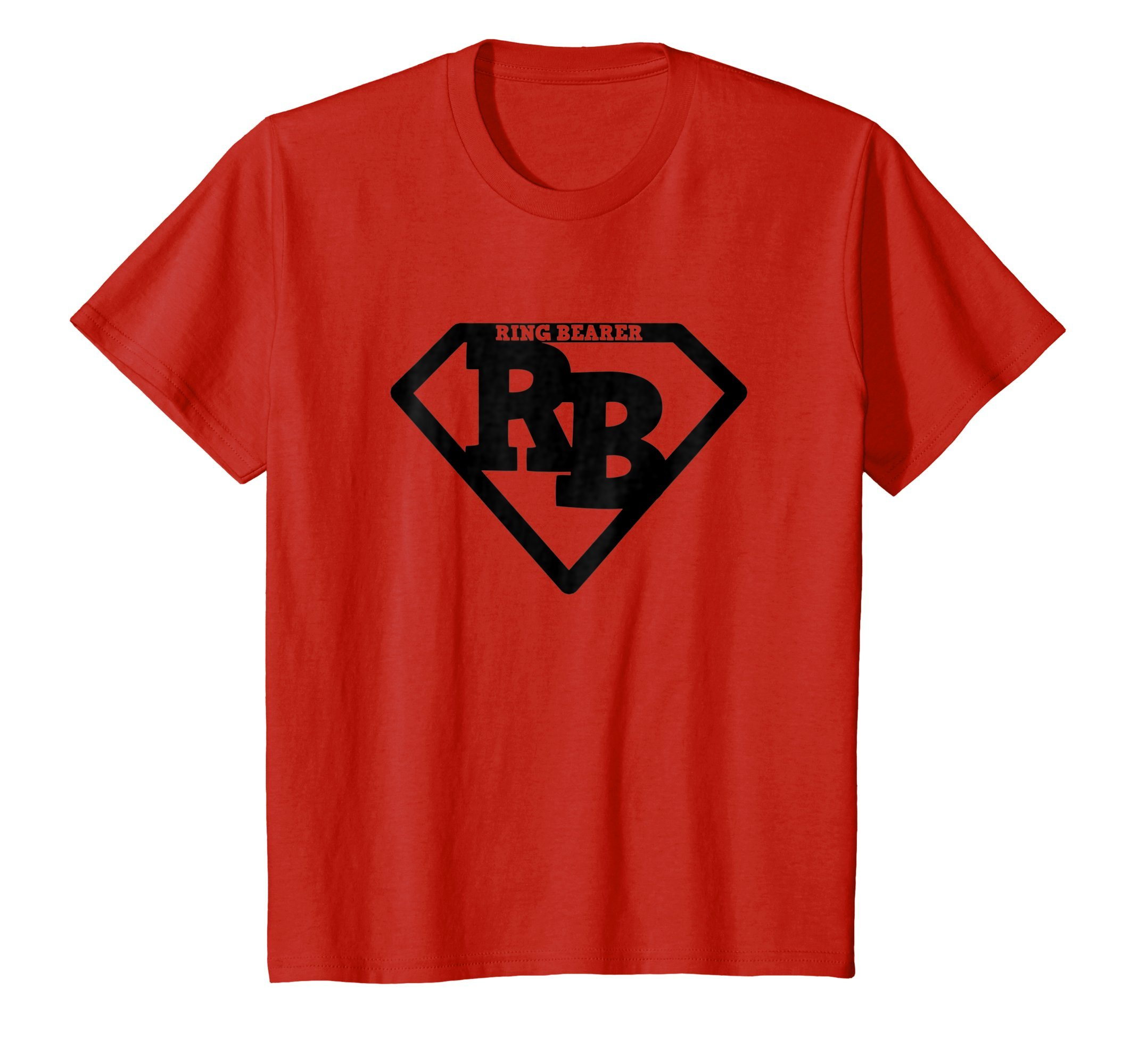 Kids Ring Bearer Super Cute Hero Shirt Black Logo Gift Tshirt 8 Red