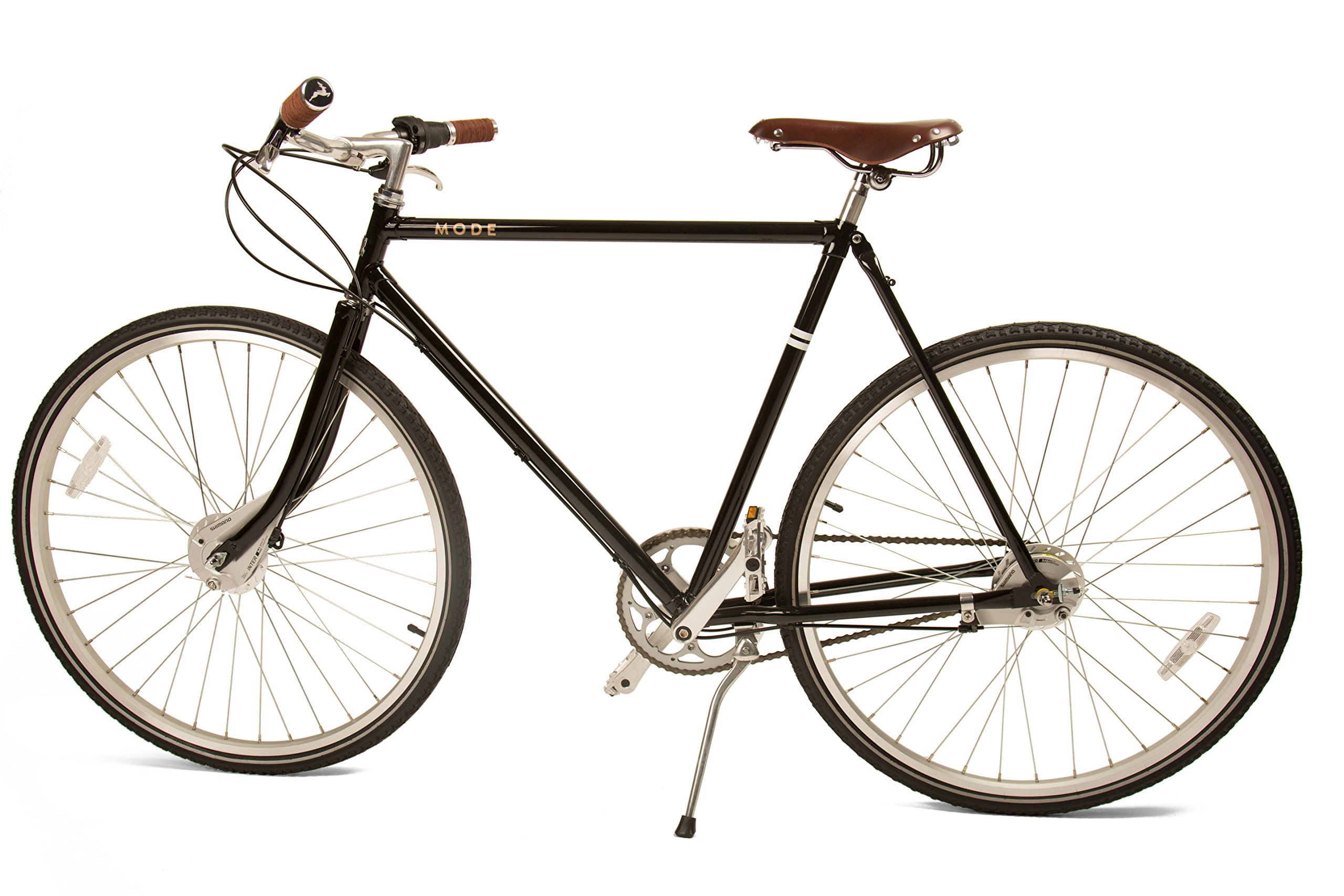 Marc 3-speed Internally Geared Upscale Roadster with Classically Lugged Frame and Fork and Buck & Wing Leather Accessories by Mozie Bicycles (Image #5)