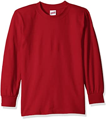 Amazon.com: Soffe Big Boys' Long Sleeve T-Shirt: Athletic Shirts ...