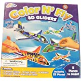 Color N' Fly Build Your Own 3D Gliders ~ Makes 5 Planes (22 Pieces; Ages 5+)