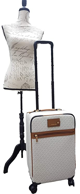 75e9cee6c Michael Michael Kors Signature Travel Trolley Rolling Carry On Suitcase  Vanilla Acorn: Amazon.co.uk: Luggage