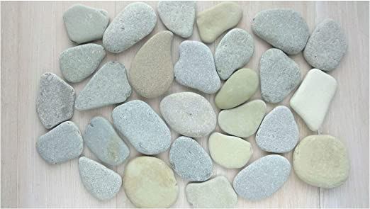ZenStones/7 Piedras planas grandes para pintura/piedras marinas/piedras decorativas/piedras/mandala/piedras de casco/piedras de playa/piedras artísticas/decoración de playa/arte de playa: Amazon.es: Jardín