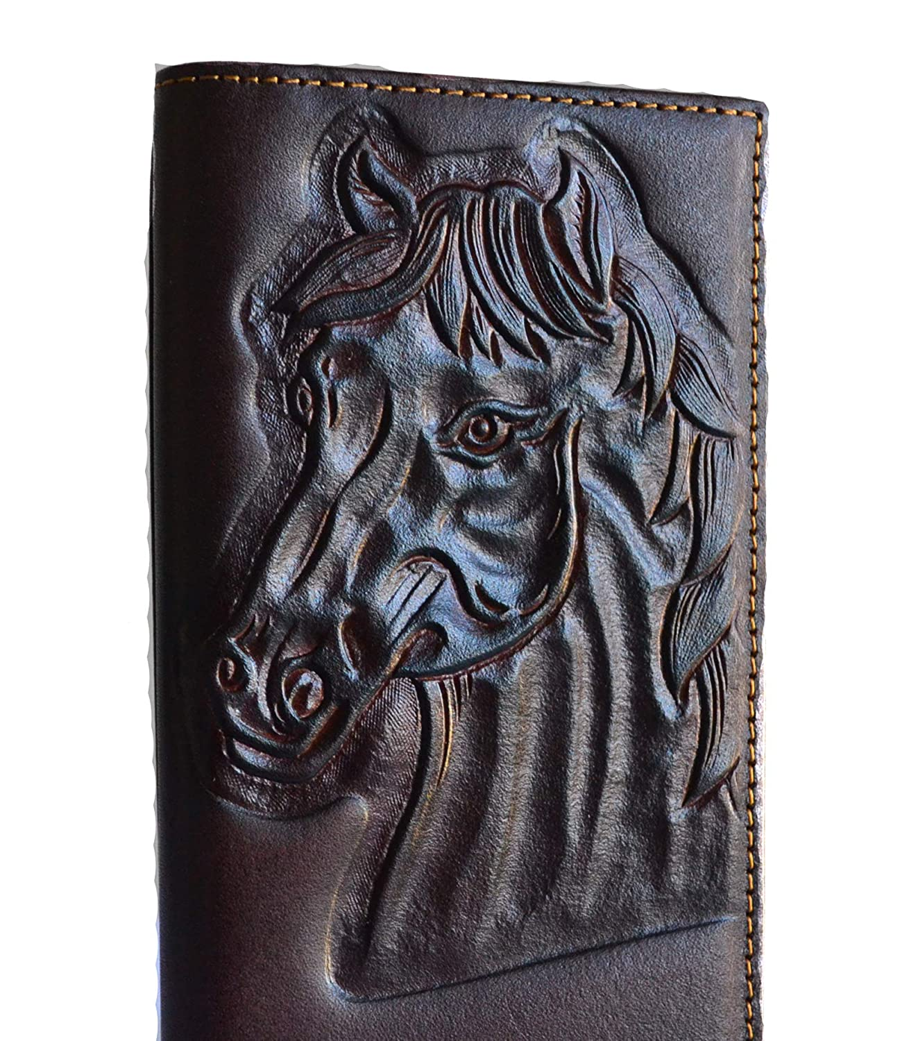 5b0231582d8e men horse rider tooled leather cowboy bifold tall western wallet