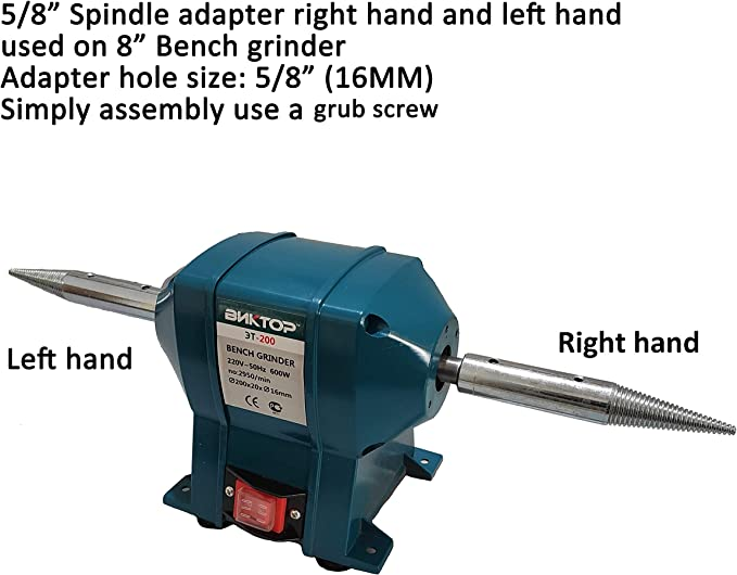 Maxigear Extension Spindle M16 Thread Right Hand For Bench Grinder