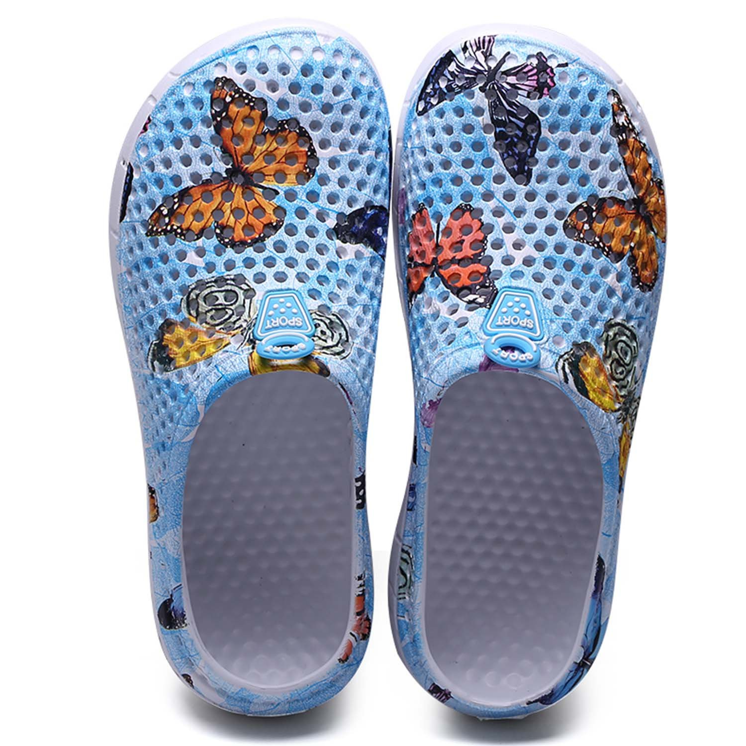 HMAIBO Garden Clogs Shoes Women's Men's Breathable Mule Sandals Water Slippers Footwear