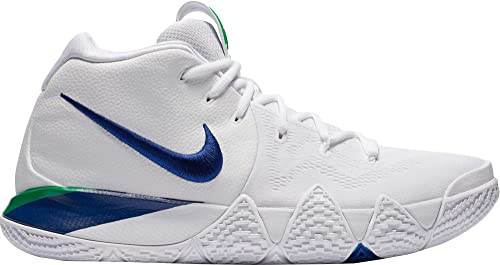 free shipping dd1c2 af0b2 Nike Men's Kyrie 4 Basketball Shoes (White/Deep Royal Blue, 18 D(M) US)