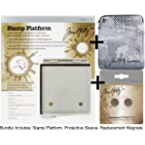 COMPLETE BUNDLE: Tim Holtz STAMP PLATFORM + Sleeve + Magnets 1707e+1709e+1710e