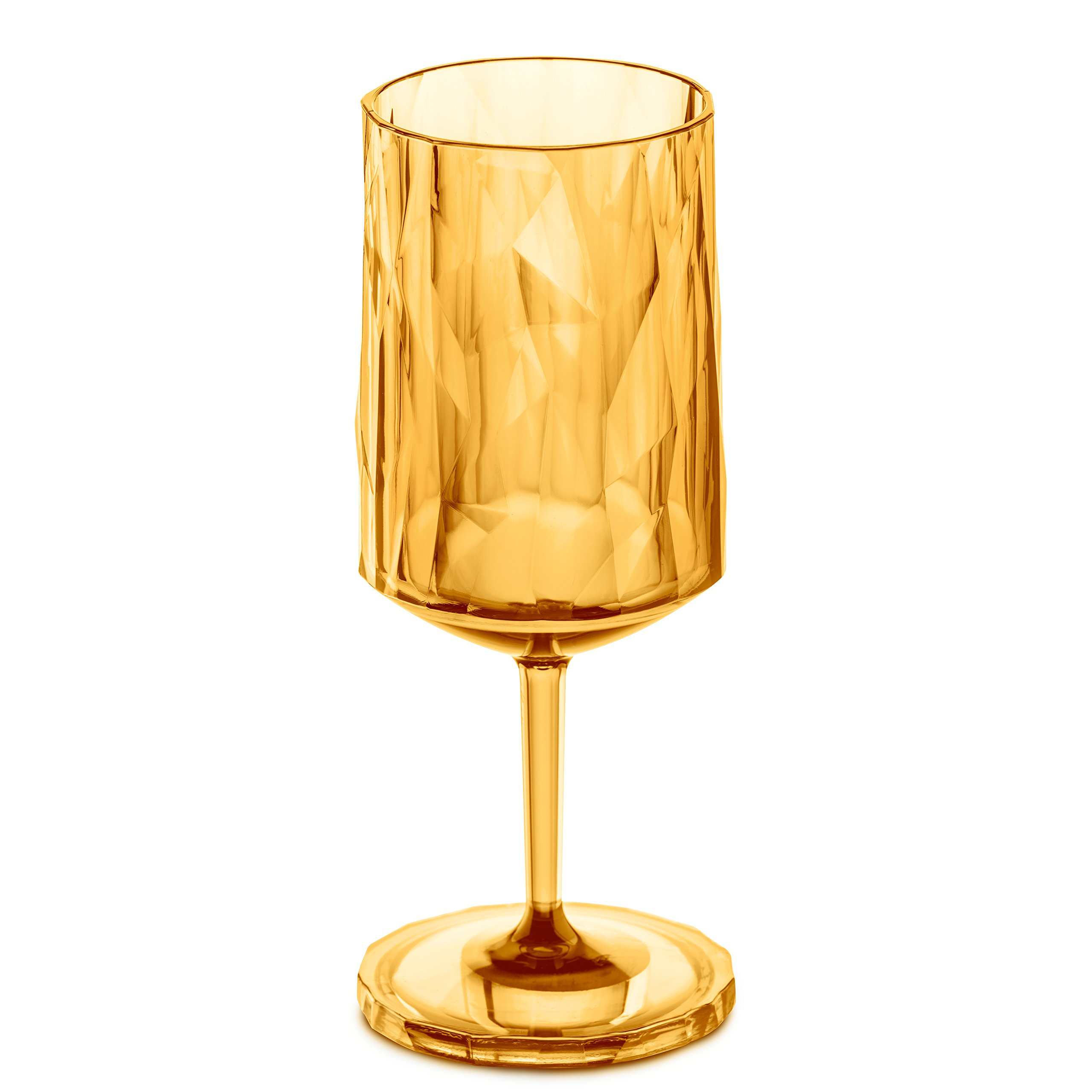 Koziol 3401651 Club NO. 4 350ml Wine Glass, One Size, Transparent Amber