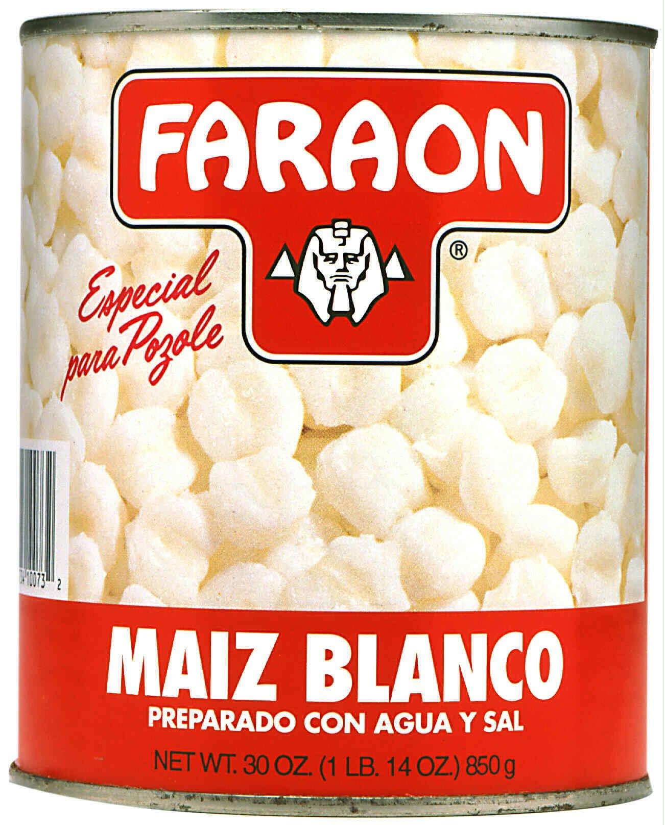 FARAON Hominy White, 30 Ounce (Pack of 12)