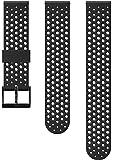 Suunto Watch Strap, 20mm, Silicone, Black- Athletic, S+M: 120-230 mm