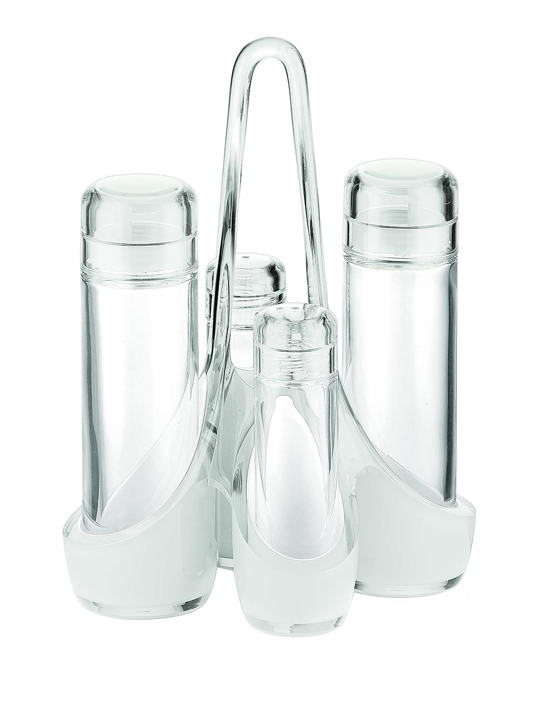 SAN|PE|Glass Guzzini Fratelli Vintage Essig-und /öl Menage