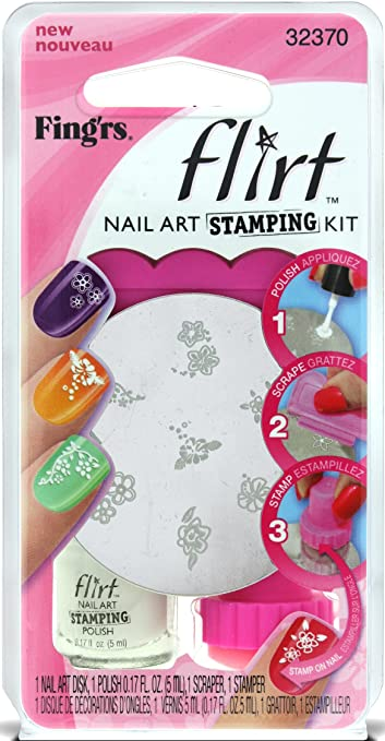Amazon Fingrs Flirt Nail Art Stamping Kit 32370 Nail Art