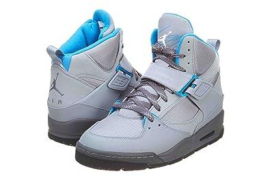 newest c0bdb 12ebc Mens Nike Air Jordan Flight 45 TRK Boots Stealth Grey   Dark Grey   Photo  Blue