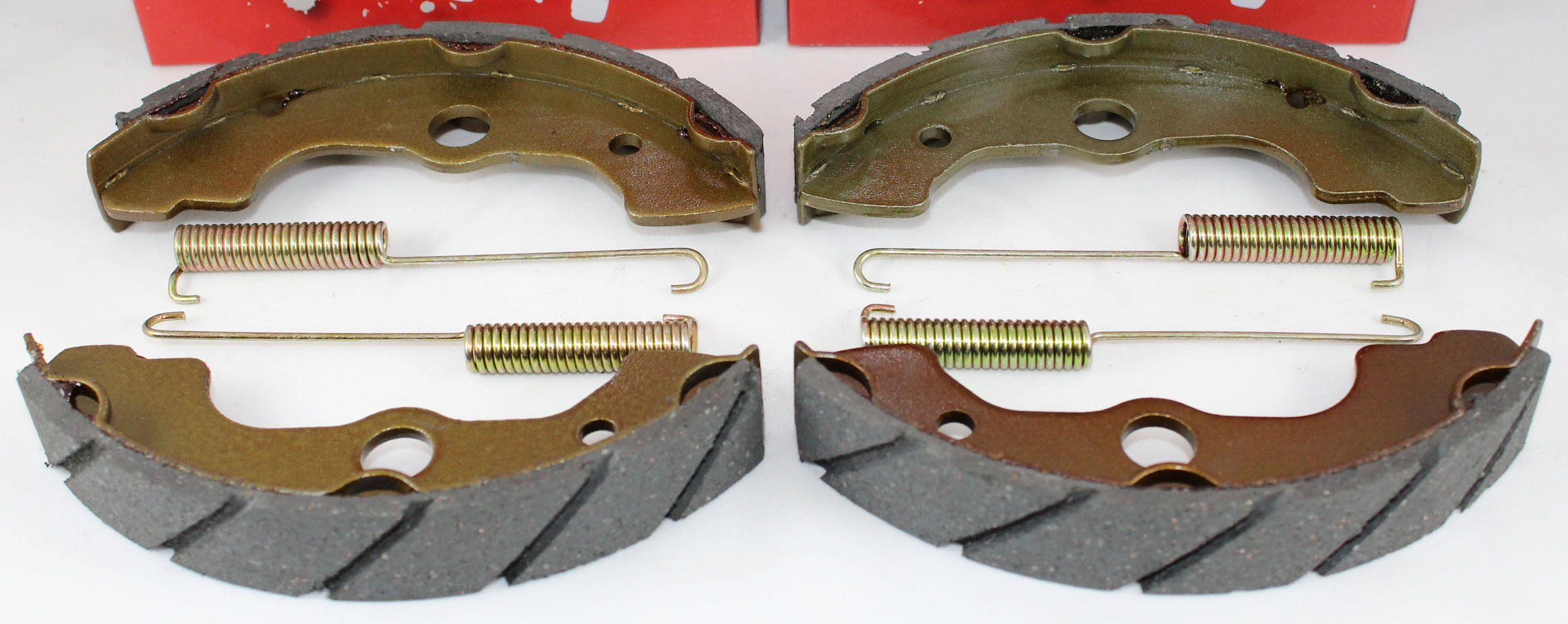 WATER GROOVED Front & Rear Brake Shoes & Springs SET for the Honda 2000-2006 TRX 350 Rancher ATV by Hi-Caliber Powersports Parts (Image #2)