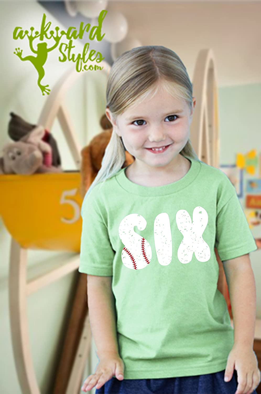 Awkward Styles Baseball Birthday Toddler T Shirts Infant T Shirts 6th Birthday Party Baseball Tee