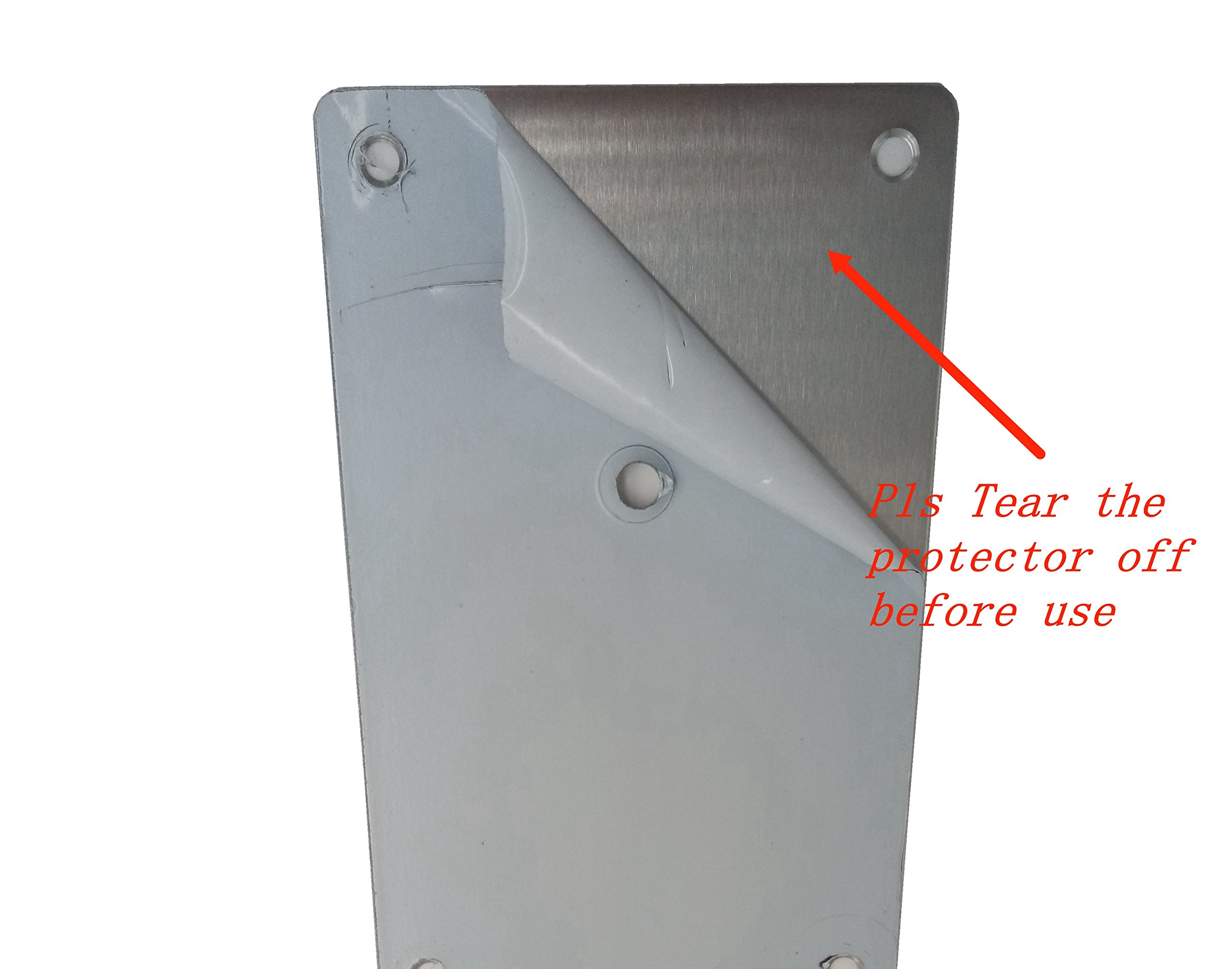 Promotion! VRSS Pack of 2 Satin Finish 304 Stainless Steel Kick Plate 200mm Height x 430mm Width 1.2mm Thick, 2 Pack by VRSS (Image #4)