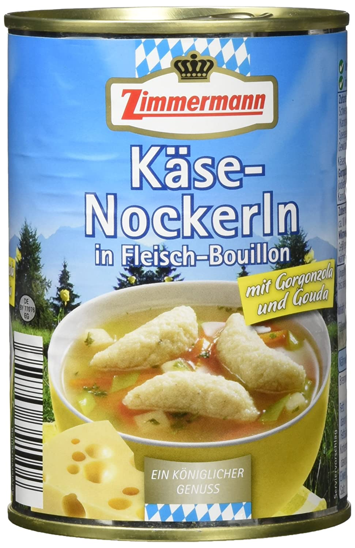 Fleischwerke Zimmermann Käsenockerlsuppe, 6er Pack (6 x 400 ml ...