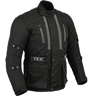 Sizes M-6XL Mens All Black Waterproof CE Armoured Motorcycle//Motorbike Jacket
