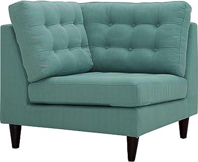 Modern Contemporary Urban Design Living Lounge Room Corner Sofa Chair, Blue, Fabric