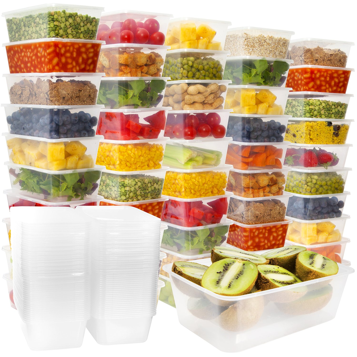 emmner 8 oz plastic food storage containers take out containers with lids. Black Bedroom Furniture Sets. Home Design Ideas