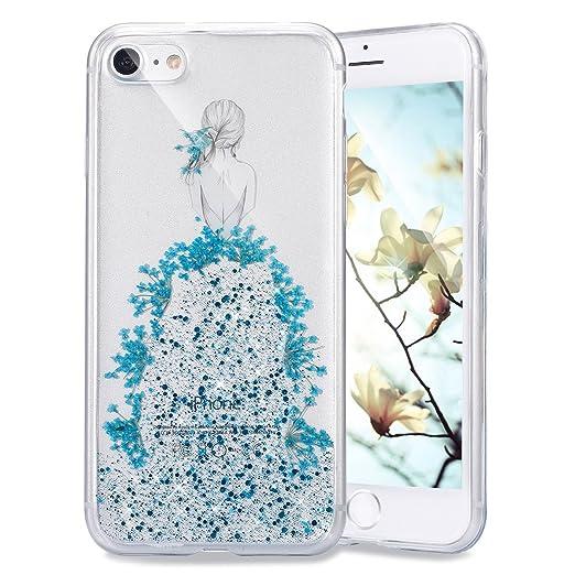 13 opinioni per Ukayfe Elegante e Leggera Custodiai per iPhone 7/8, Crystal Case Design fiori