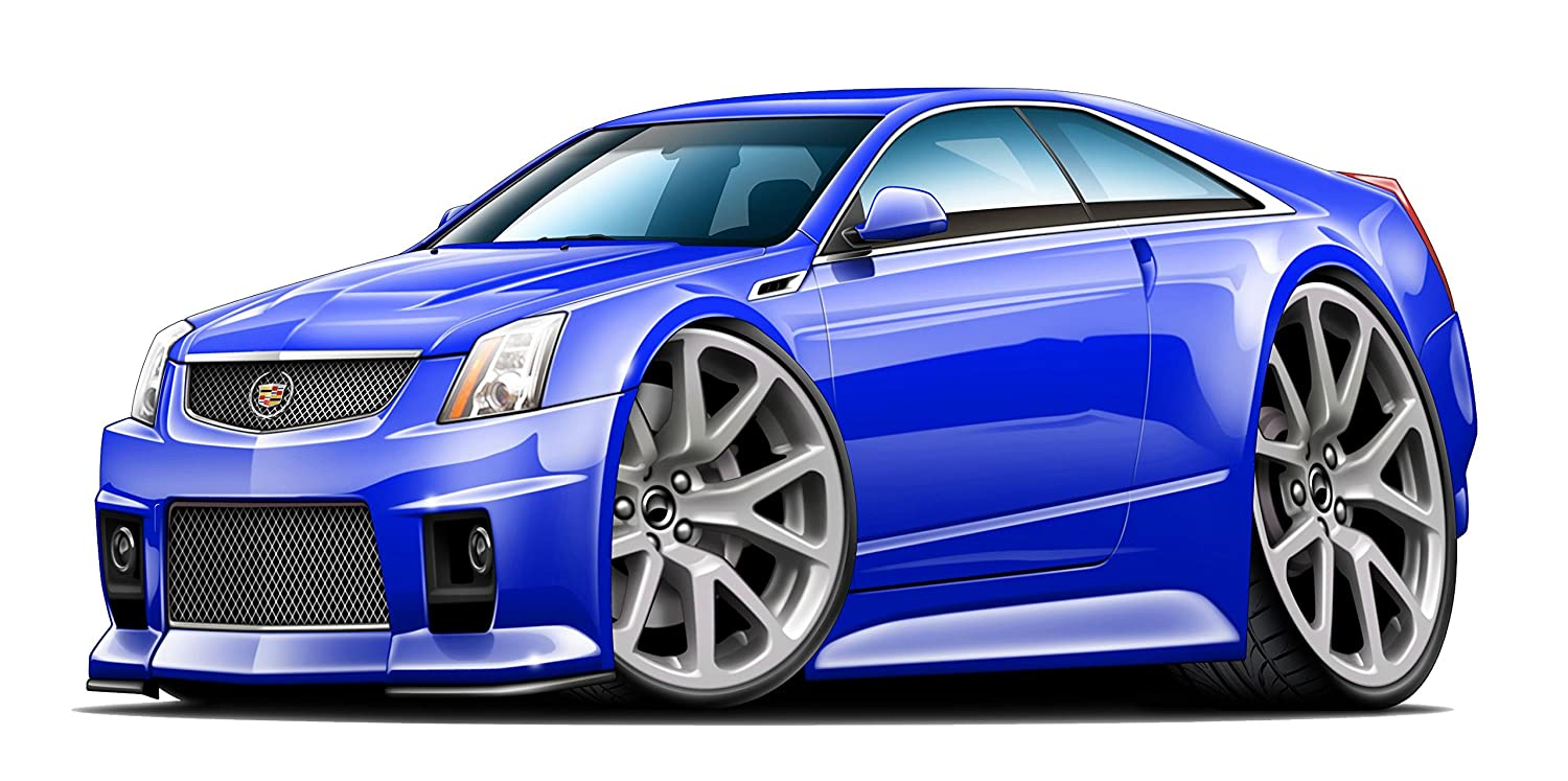 Amazon com cadillac cts v 2 door wall decal caddy 3d cartoon car movable stickers vinyl wall stickers baby