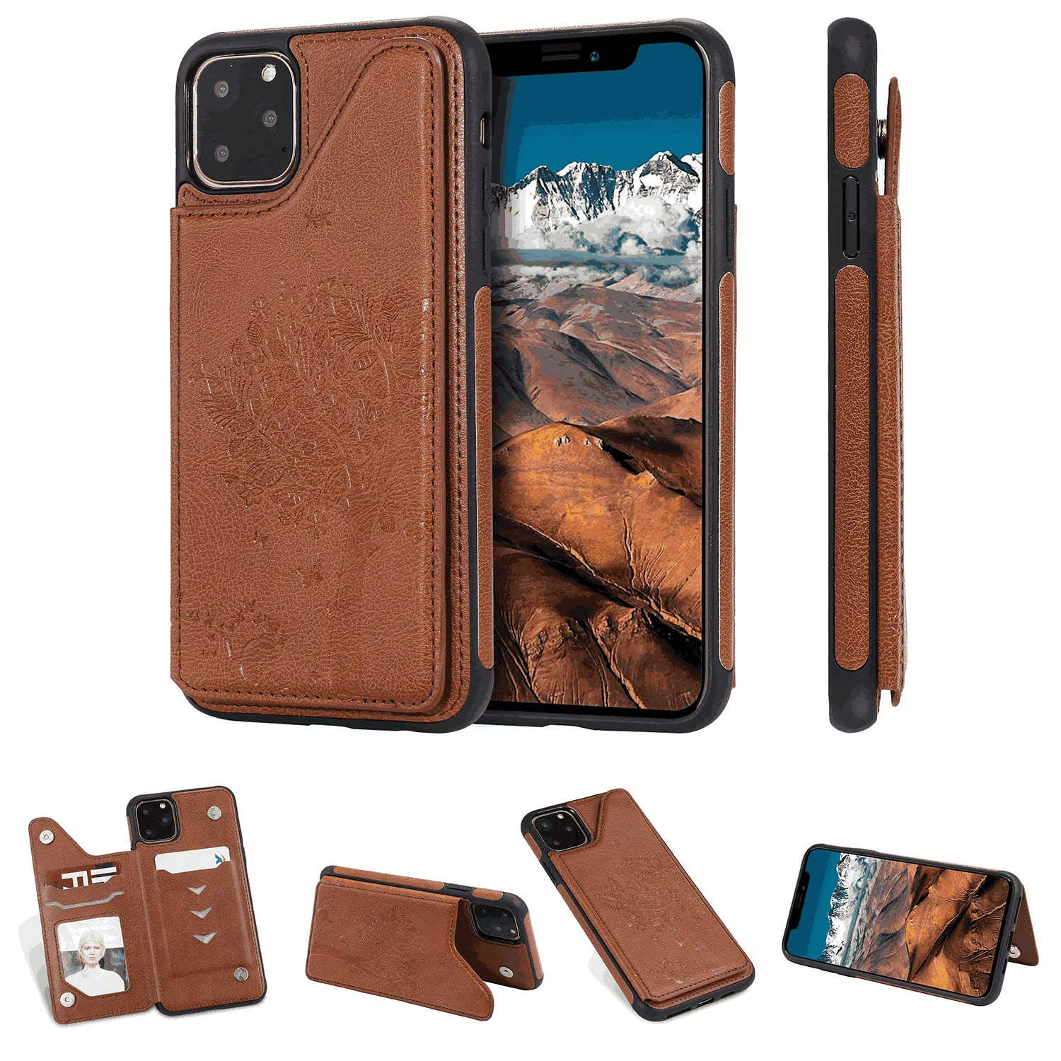 Huawei Mate30 Flip Case Cover for Huawei Mate30 Leather Cell Phone Cover Card Holders Extra-Protective Business Kickstand with Free Waterproof-Bag