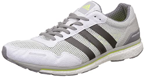low priced 1e174 fc389 adidas Adizero Adios, Scarpe Running Uomo, Bianco (Footwear WhiteTrace  Grey MetallicSolar Yellow), 44 23 EU Amazon.it Scarpe e borse