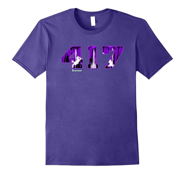 Branson Missouri 417 Area Code T-Shirt-TH