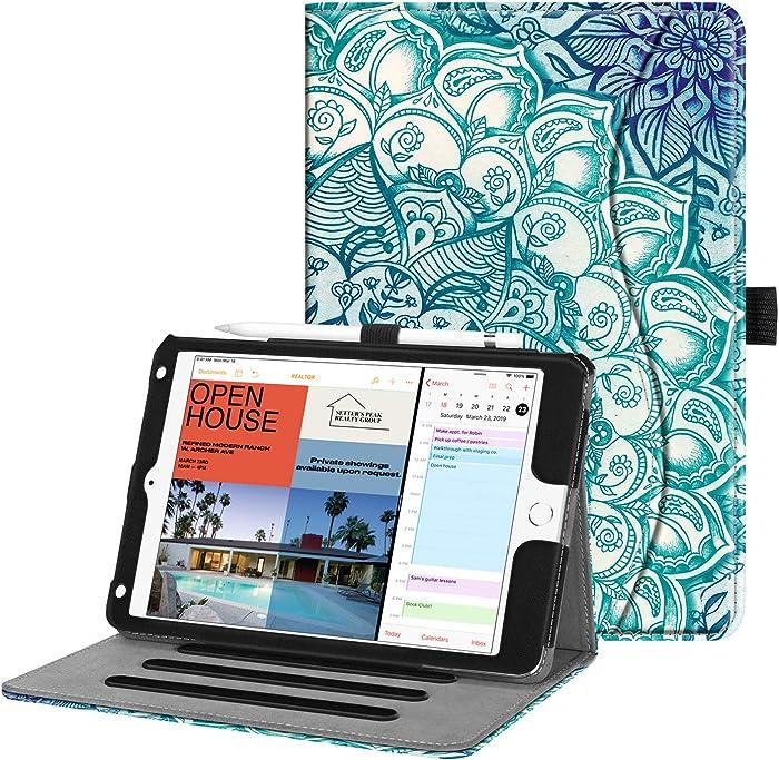 "Fintie Case for iPad Mini 5 2019 / iPad Mini 4 - [Corner Protection] Multi-Angle Viewing Smart Folio Cover w/Pocket, Pencil Holder, Auto Wake/Sleep for iPad Mini 5th Generation 7.9"", Emerald Illusions"