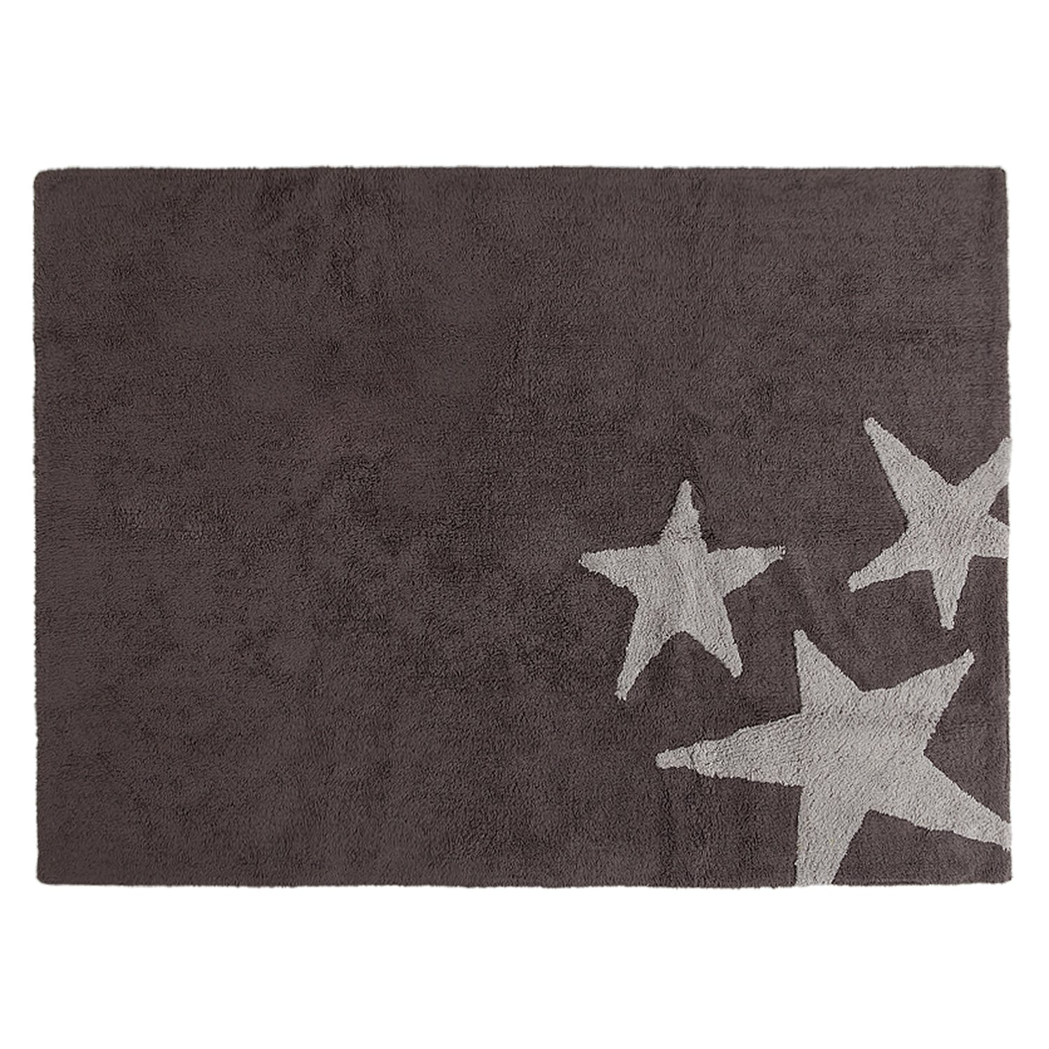 Lorena Canals Three Stars Machine Washable Kids Rug, 4 x 5 Feet, Handmade From 100% Natural Cotton and Non-Toxic Dyes, Perfect for Nursery, Baby or Childrens Rooms, Works for Outdoor or Beach