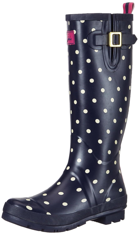 Joules Women's Wellyprint Rain Boot B06XYYXJ6F 6 B(M) US|Blue