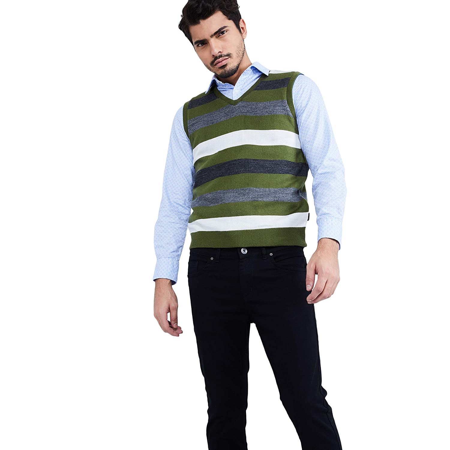 For 347/-(61% Off) Men's Sweaters & Jackets at Flat 60% Off from Rs.357 at Amazon India