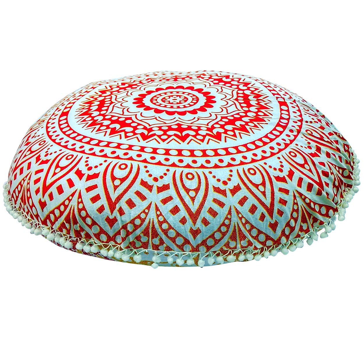 Pouf Cover Mandala Floor Pillow Comfortable Round Bohemian Cushion Cover Ottoman Mandala Floor Pillows
