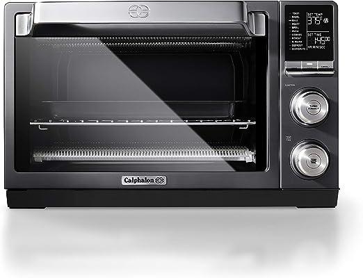 Calphalon Tscltrdg1 Quartz Heat Countertop Toaster Oven Stainless Steel Extra Large Capacity Black Dark Gray
