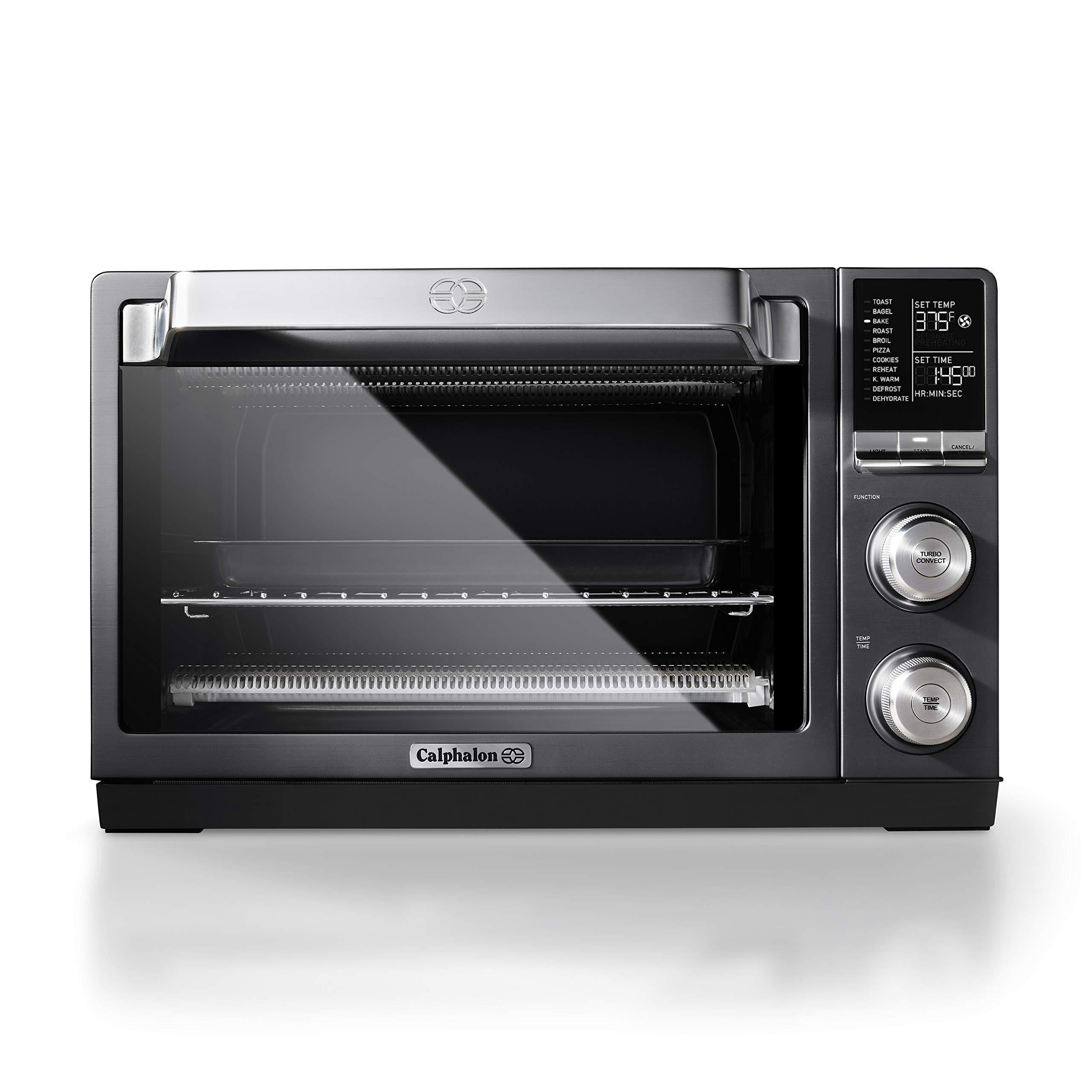 Calphalon TSCLTRDG1 Quartz Heat Countertop Toaster Oven, Stainless Steel, Extra-Large Capacity, Black, Dark Gray by Calphalon
